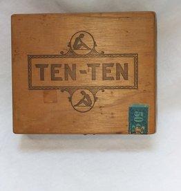 "Ten-Ten Kings Wooden Cigar Box, 8""x 7""x 2.5"", c.1960"