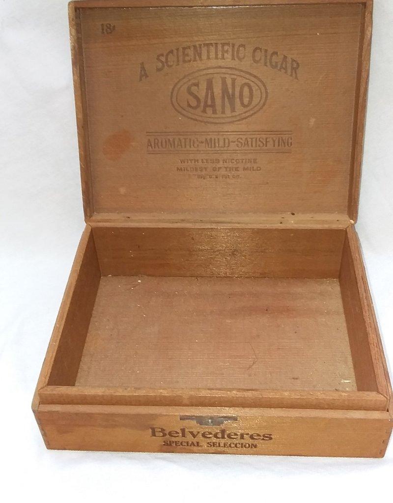 SANO A Scientific Wooden Cigtar Box, c.1960