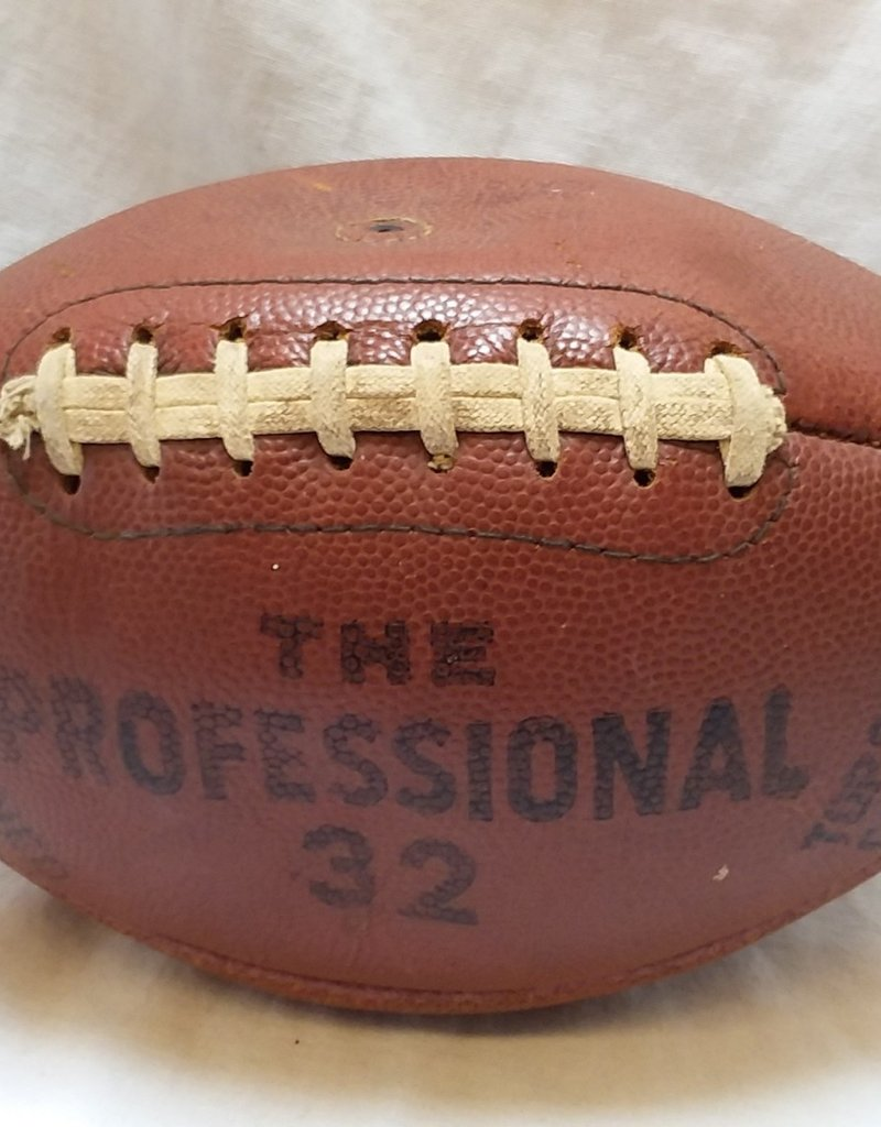 "Cowhide Football, ""The Professional 32"", For Display Only,  c.1950's-60's"