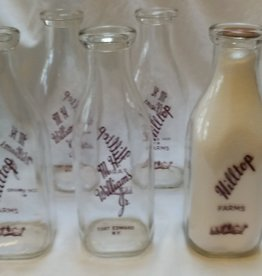 Hilltop Farms Pyro Milk Bottle, 1 Qt. c.1960