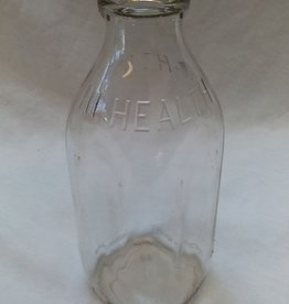 Hi Health Embossed Milk Bottle, Quart, 1960's