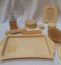 Celluloid Vanity Dresser Set, 8 pieces, c. Early 1900's