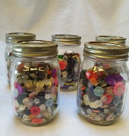 Golden Harvest Mason Jar Of Vintage Buttons, 1 Pint