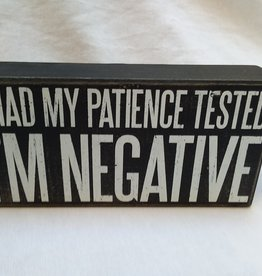 "i'm Negative B&W Sign, 8"" x 4"""