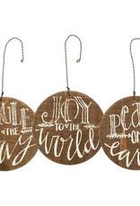 Round Barn Wood Ornaments