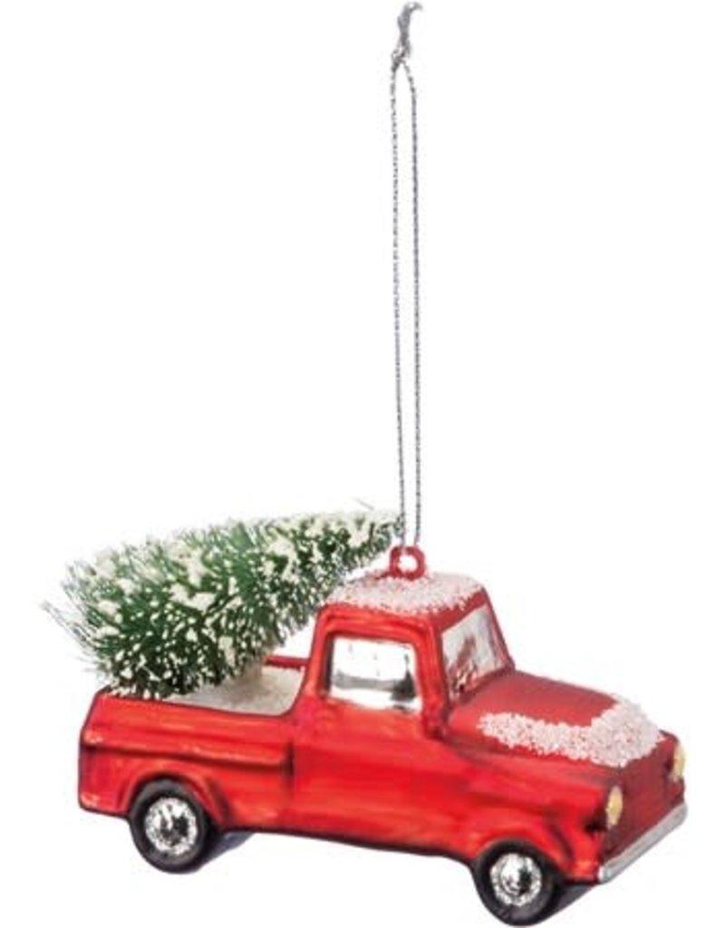 Xmas Snow Truck Ornament