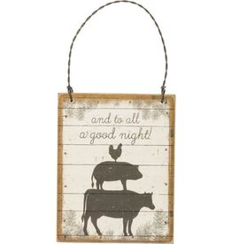 And to All a Good Night Farmhouse Ornament