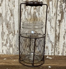 Mason Jar Mesh Basket with Handle