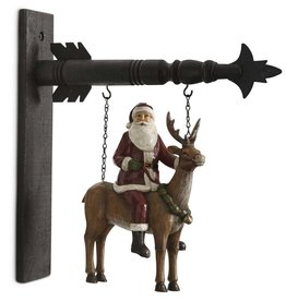 Santa on Reindeer Porch Hanger (Arrow Replacement)