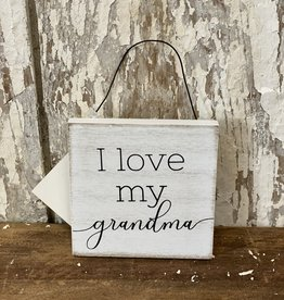 I Love My Grandma hang tag