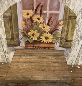 """Welcome"" Sunflower Window Display / Large Fancy Slate"