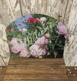 """Welcome"" Flower Field / Small Fancy Slate"