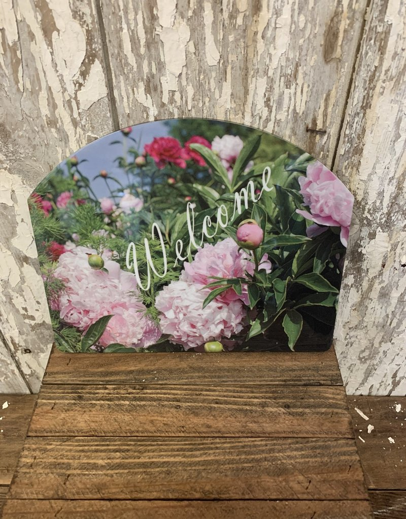 """""""Welcome"""" Flower Field / Small Fancy Slate"""