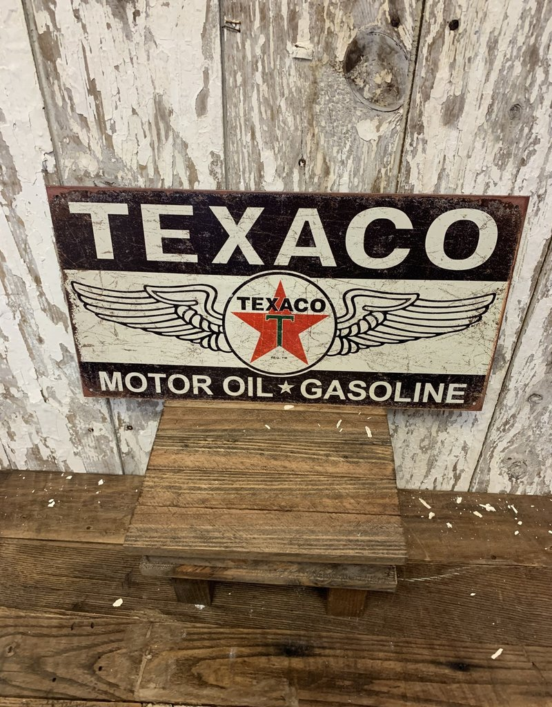 Winged Logo Texaco Motor Oil Reproduction Sign