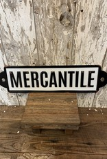 Mercantile Wall Enamel Plate