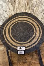 "Gray 15"" Braided Chair Pad"