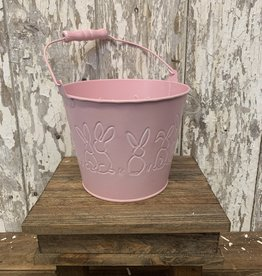 Pink Easter Bunny Pail with Handle