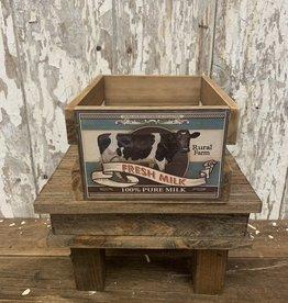 """Fresh Milk"" Wood Crate"