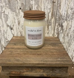Cricket & Clover Brown Sugar & Fig soy wax candle
