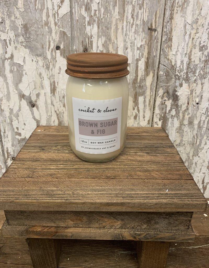 C & C - Brown Sugar & Fig soy wax candle
