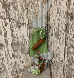 Metal Painted Standing Easter Bunny