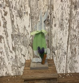 Small Standing Painted Metal Easter Bunny
