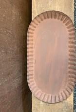 Medium Oval Tin Tray - Rusted