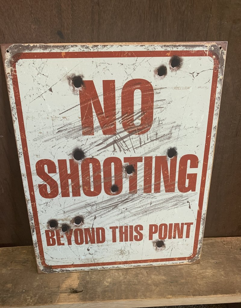 "No Shooting Tin Sign 12.5""x16"""