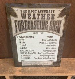 "Weather Forecasting Tin Sign 12.5""x16"""