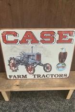 "Case Farm Tractor Tin Sign 12.5"" x 16"""