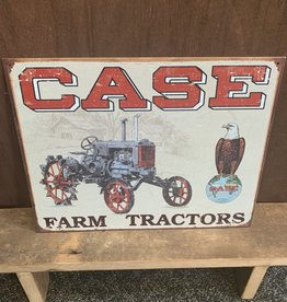 "Case Farm Tractor Tin Sign 12.5"" x 16"""