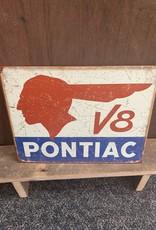 """Pontiac V8 Tin Sign 12.5""""x16"""""""