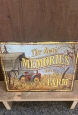 "Farm Memories Tin Sign 12.5""x16"""