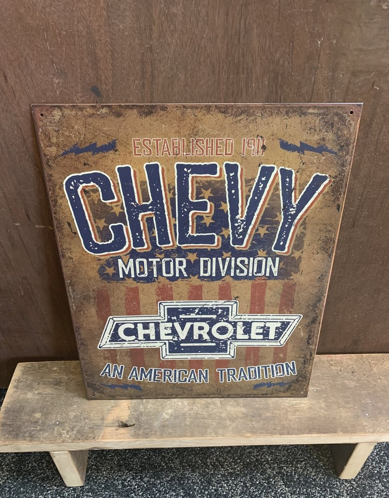 """Chevrolet An American Tradition Tin Sign 12.5""""x16"""""""