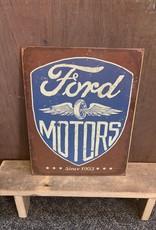 "Ford Motors Tin Sign 12.5""x16"""