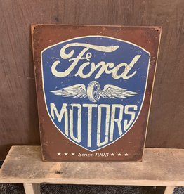 "Ford Motors Tin Sign 12.5""x16"""