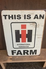 "This is an International Harvester Farm Tin Sign 12.5""x16"""