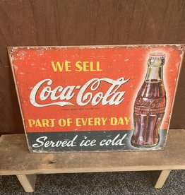 "Coca-Cola Part Of Every Day Tin Sign 12.5""x16"""