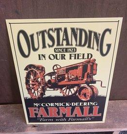"Outstanding Farmall Tin Sign 12.5""x16"""