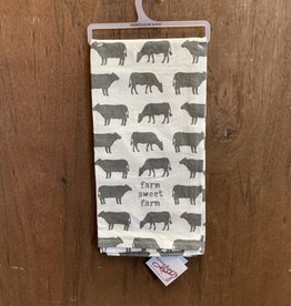 Farm Sweet Farm (Cows) Dishtowel