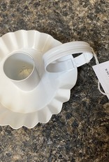 Taper Pan Rippled Tin Candle Holder w/ Ring