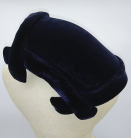 Blue Velvet Headband Hat Amy New York for Stern Bros.