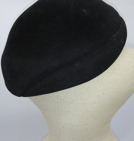 Vintage Genuine Velour Black Hat '50's
