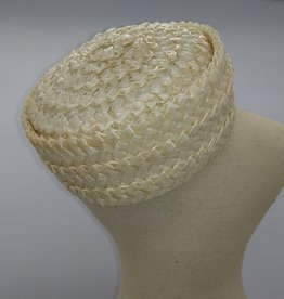 Belmar Faux Straw Pillbox Hat 1950-'60's