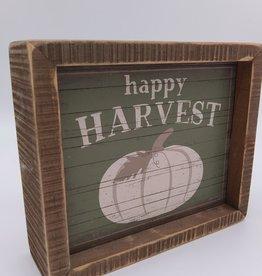 """Happy Harvest Sign, 6"""" x 5"""""""