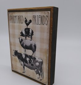 "Keystone Wholesale Farmyard Friends Block Sign 4x6"""