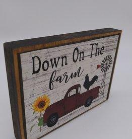 "Keystone Wholesale Down On The Farm Block Sign 6x4"""
