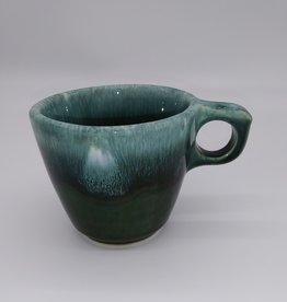 Hull Pottery Green Drip Glaze 10 oz Mug