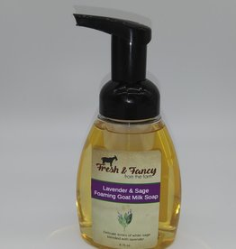 Keystone Wholesale Fresh & Fancy Lavender & Sage Foaming Goat Milk Soap 8.75oz