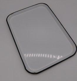 """Vintage Black & White Enamelware Tray 13.5 x 9.5"""""""